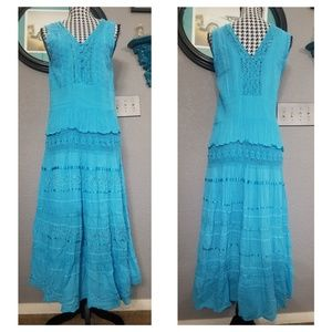 Gorgeous VTG Maxi Boho Dress.